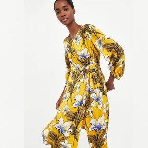 ZARA YELLOW FLORAL DRESS